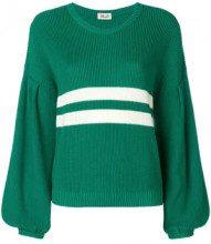- Baum Und Pferdgarten - stripe detail jumper - women - cotone/acrilico - XS , S, M, L, XL - di colore verde