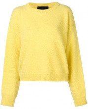 - Erika Cavallini - Maglione a girocollo - women - cashmere/lana - XS - di colore giallo