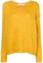 - Tela - V - neck jumper - women - alpaca/mohair/fibra sintetica - S, L - di colore giallo