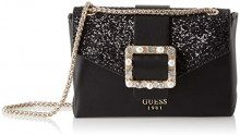Guess Summer Night City, Borsa a Mano Donna, Nero (Black Bla), 18.5x13x5 cm (W x H x L)