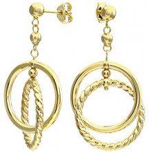 Citerna Orecchini Pendenti da Donna, Oro Giallo, 9 Carati 375