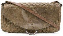 - Tagliovivo - Borsa a spalla con battente - women - Camel Leather/Linen/Flax - Taglia Unica - di colore verde