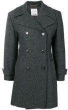 - Moschino Vintage - 2000's double - breasted midi coat - women - acetato/rayon/lana vergine - 42 - di colore grigio