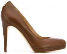 - Michael Michael Kors - Pumps con lucchetto - women - pelle/fibra sintetica - 7, 8,5, 8 - color marrone