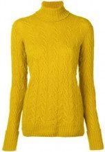 - Drumohr - Lupetto a maglia intrecciata - women - montone - L - di colore giallo