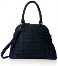 Joe Browns Tweedy Check Grab Bag - Borse a mano Donna, Blu (Navy Multi), 11x27x34 cm (W x H L)