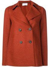 - Harris Wharf London - Caban taglio dritto - women - lana vergine - 44, 40 - di colore arancione