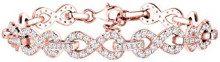 Elli Premium Bracciale da Donna in Argento 925, Placcato Oro Rosa, Zirconia Cubica, 18 cm