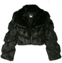 - Alberto Makali - cropped fitted jacket - women - fibra sintetica/pelliccia di coniglio - L, M - di colore nero