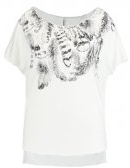 ONLSYLVIA  - T-shirt con stampa - cloud dancer