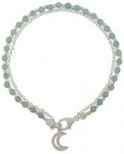 - Astley Clarke - moon biography bracelet - women - amazzonite/argento sterling/cristalli - Taglia Unica - di colore verde