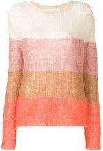 - Chiara Bertani - loose knit jumper - women - kid mohair/fibra sintetica/lana merino - S - color carne