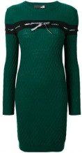 - Love Moschino - Vestito a maglia intrecciata - women - lana/fibra sintetica/cashmere - 38, 42 - di colore verde