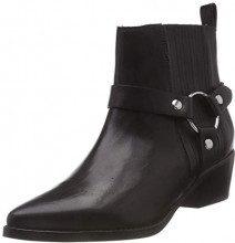 Steve Madden Powerful Ankle Boot, Stivaletti Donna (Black Leather 017), 36 EU
