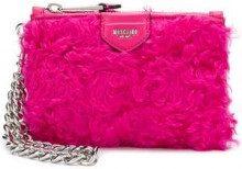- Moschino - fur clutch bag - women - fibra sintetica - Taglia Unica - di colore rosa
