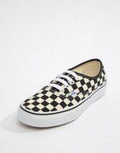 Sneakers a quadri bianchi e neri