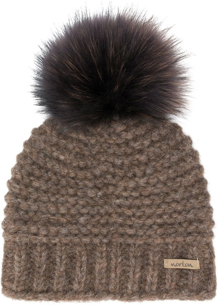 Berretto con pompon fibra sintetica lana merino alpaca. Immagini prodotto eb329c2fbbb3