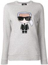 - Karl Lagerfeld - Maglione 'Karlito' - women - cotone - XS , M, S, L - di colore grigio