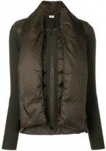 - Moncler - padded scarf knitted jacket - women - lana vergine/fibra sintetica/piuma d'oca - L, S - di colore verde