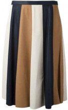 - Drome - striped pleated skirt - women - Cupro/Lamb Skin - M - multicolore