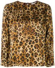 - Yves Saint Laurent Vintage - leopard longsleeved blouse - women - Silk - 42 - color marrone