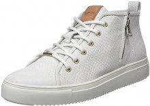 Blackstone PL91, Sneaker a Collo Alto Donna, Bianco Wind Chime, 37 EU