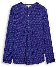 ESPRIT 018ee1f004, Camicia Donna, Multicolore (Navy 400), 38