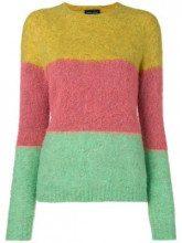 - Roberto Collina - Maglione con design color - block - women - fibra sintetica/acrilico/fibra sinteticamohairlana - XS, S, M, L - di colore verde