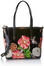 SwankySwans Rosie Patent Leather Tote - Borse Donna, Nero (Black), 12x33x26 cm (W x H x L)