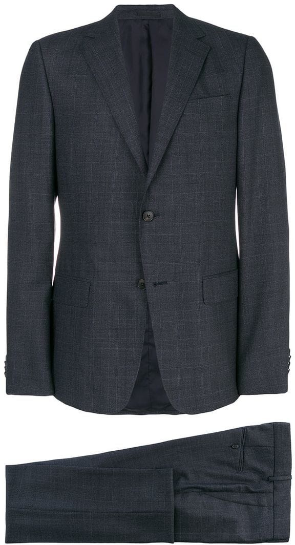 Z Zegna - checked two piece suit - men - fibra sintetica lana - 54 ... 7947a57a214