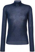 - Joseph - Maglione semi trasparente collo alto - women - cashmere - M - di colore blu