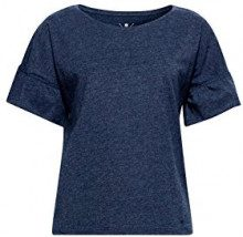 edc by Esprit 048cc1k115, T-Shirt Donna, Blu (Navy 5 404), Small