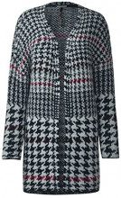Street One with Houndstooth Dessin, Cardigan Donna, Blau (Night Blue 30109), 48 (Taglia produttore: 42)