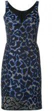 - Tufi Duek - animal print dress - women - acetato/cotone - 36 - di colore blu