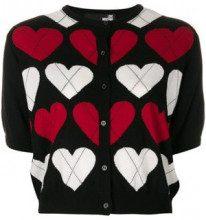 - Love Moschino - Cardigan a cuori - women - lana/acrilico - 40 - di colore nero