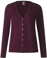 Cecil 312200, Cardigan Donna, Rosso (Deep Loganberry 11343), Small