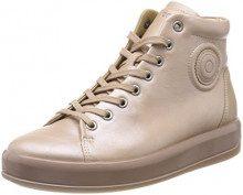ECCO Soft 9, Sneaker a Collo Alto Donna, Beige (Powder), 40 EU