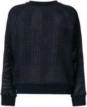 - Mr & Mrs Italy - tartan mesh semi - sheer jumper - women - cotone/seta/fibra sintetica - S, M, L, XXS, XS - di colore blu