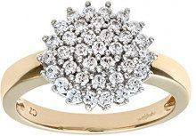 Citerna Anello da Donna in Oro Giallo 9K con Diamante, Misura 18