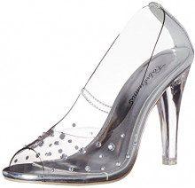 PleaserClearly 420 - Scarpe con Tacco Donna, Colore Trasparente (Clr Lucite), Taglia 40 EU