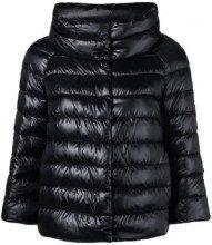 - Herno - Piumino Sofia - women - cotone/fibra sintetica/piuma d'oca/acetato - 44, 46 - di colore nero