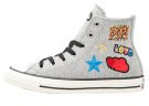 CHUCK TAYLOR ALL STAR HI FLEECE PATCHES - Sneakers alte - grey melange