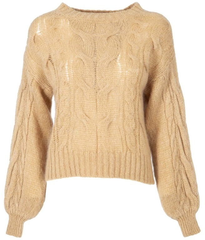 Pullover in misto mohair color cammello  3a5243136