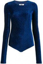 - Mm6 Maison Margiela - long sleeve body - women - fibra sintetica - M - di colore blu