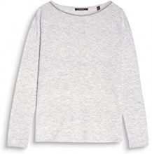 ESPRIT Collection 097eo1i007, Felpa Donna, Grigio (Light Grey 5 044), Small