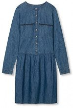 edc by Esprit 017CC1E018, Vestito Donna, Blu (Blue Dark Wash), 34 (Taglia Produttore: X-Small)