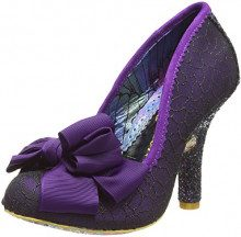 Irregular Choice Ascot, Scarpe col Tacco Punta Chiusa Donna, Viola (Purple/Black AH), 39 EU