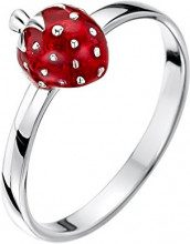 Jo for Girls-Anello in argento Sterling, motivo: fragole, misura I