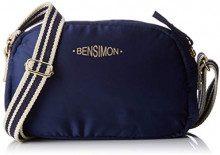 Bensimon Round Bag - Borse a tracolla Donna, Blu (Marine), 6x15x23 cm (W x H L)