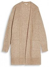 ESPRIT 097ee1i025, Cardigan Donna, Marrone (Taupe 5 244), Large